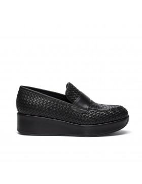CARTIER BLACK  WOVEN 5 MM LOAFER