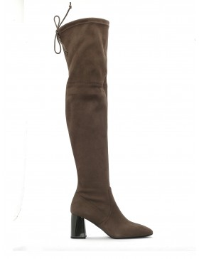 SASSO ELASTIC SUEDE HIGH BOOT