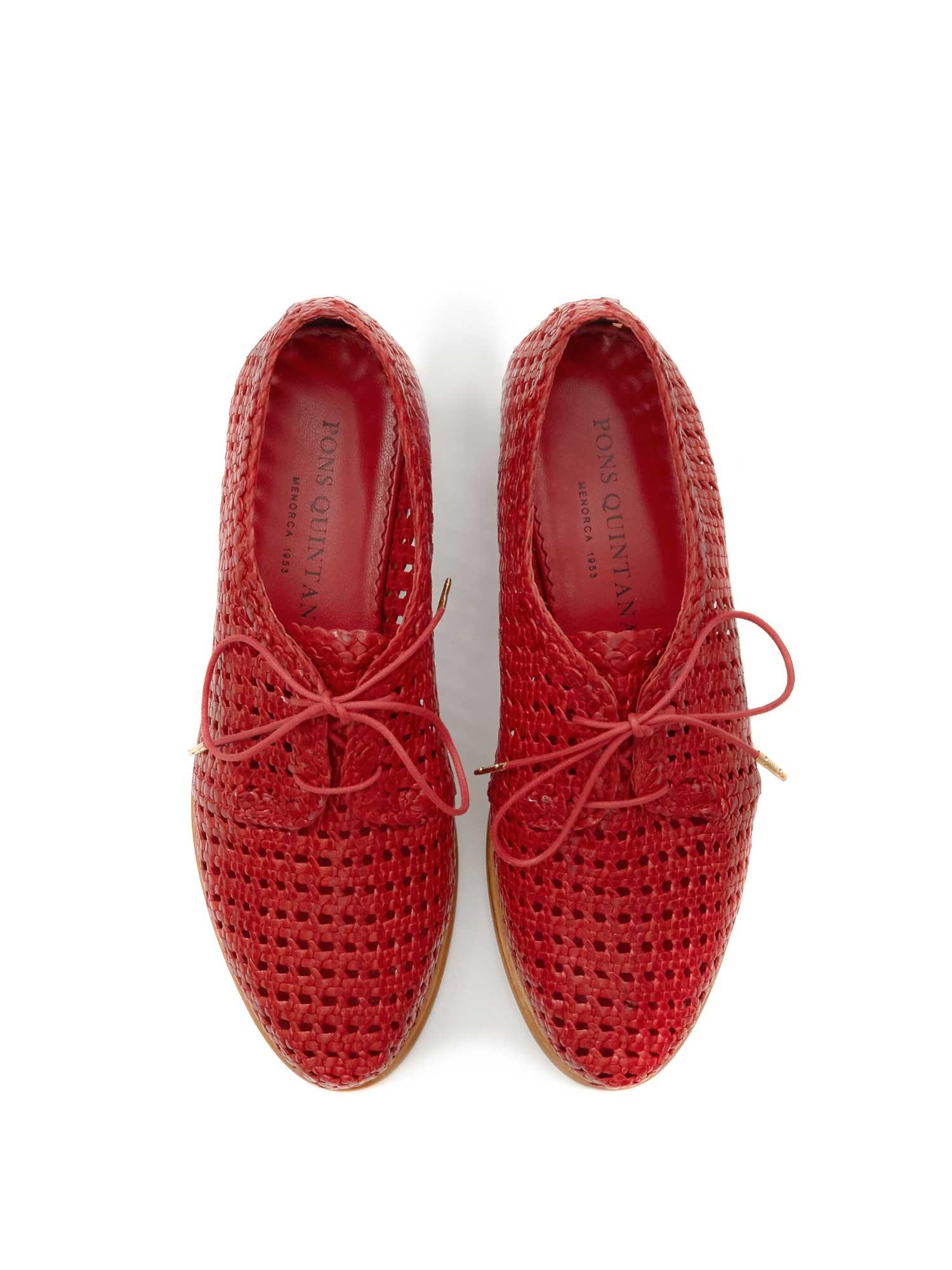 RED BRAIDED SHOE