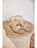 PLATINUM BRAIDED FLAT SANDAL