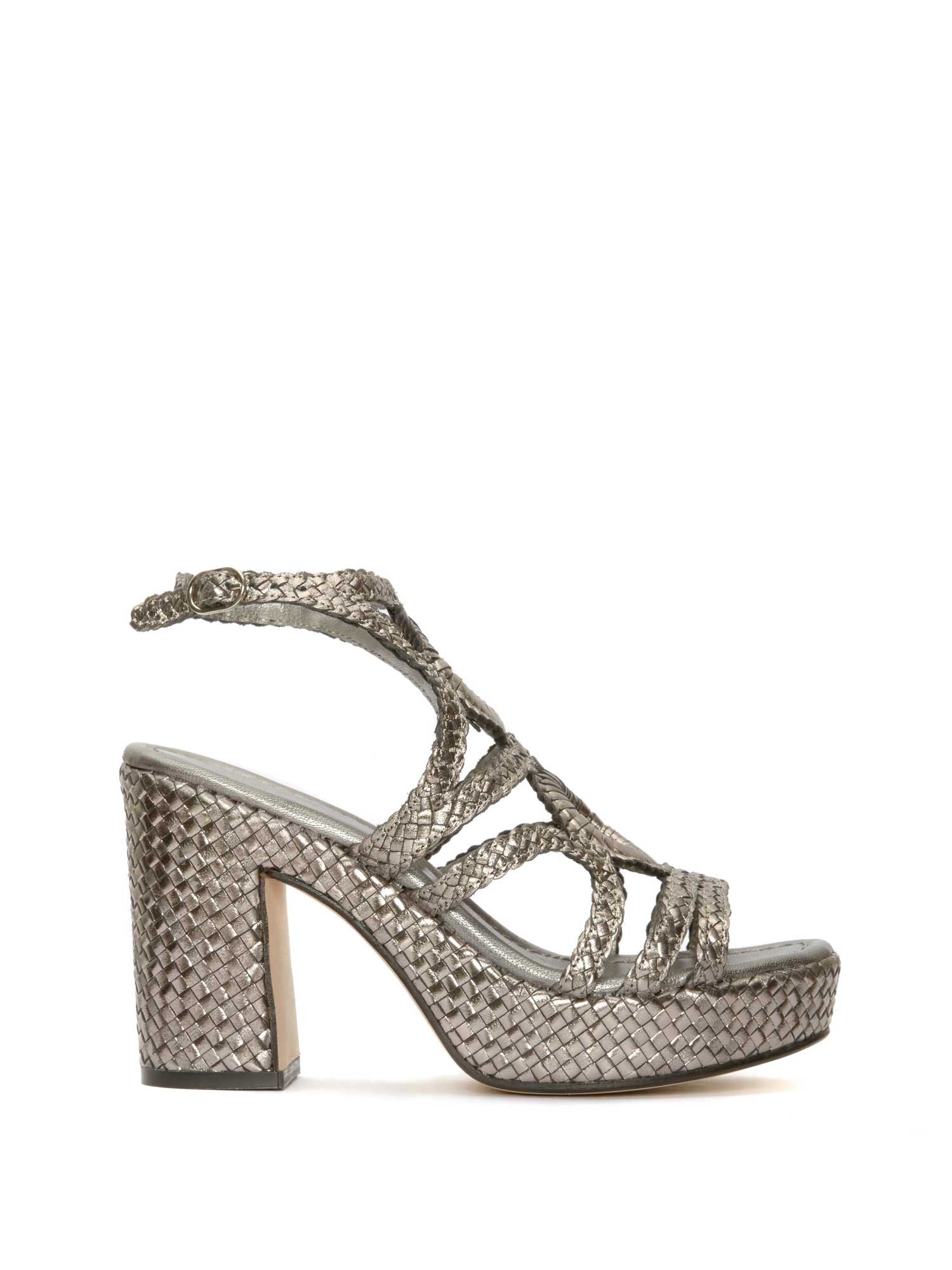 STEEL BRAIDED PLATFORM SANDAL