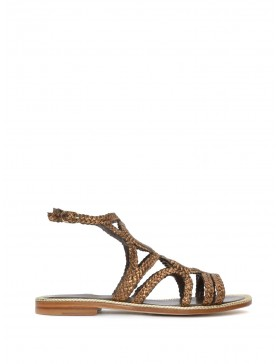 COPPER BRAIDED FLAT SANDAL