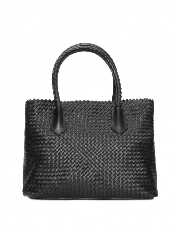 BLACK BRAIDED HANDBAG