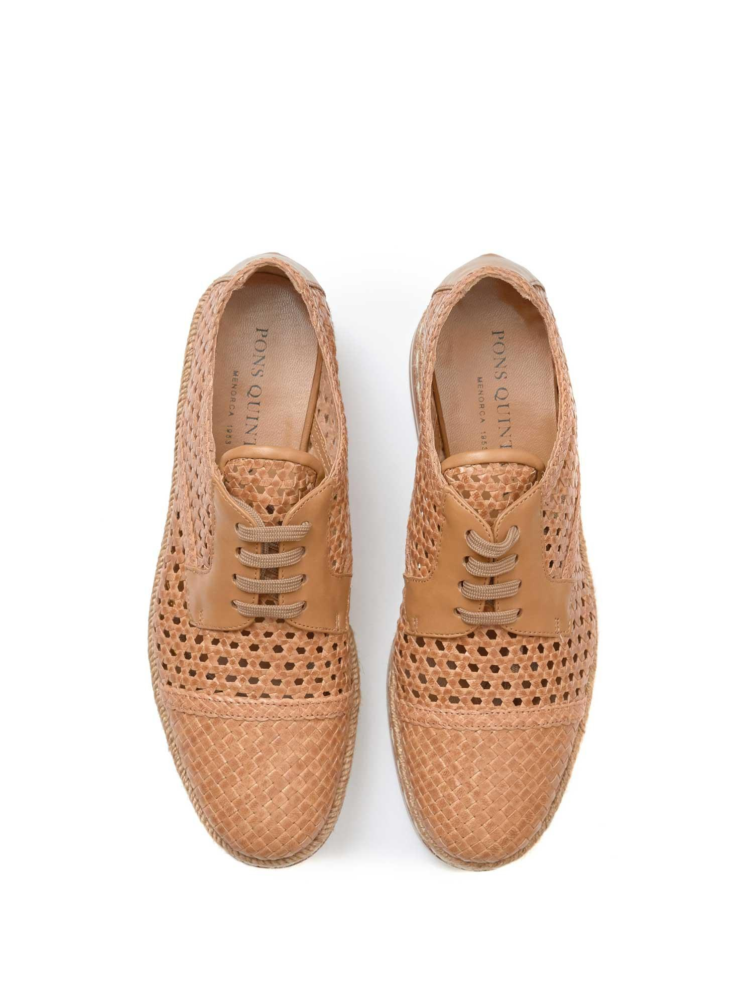 GRID SAND BRAIDED PLATFORM SHOE