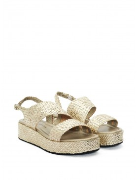 PLATINUM BRAIDED SANDAL