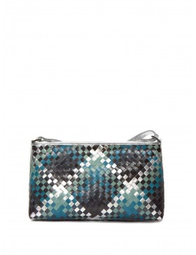 MULTI TURQUOISE, SILVER Y BLUE BRAIDED BAG
