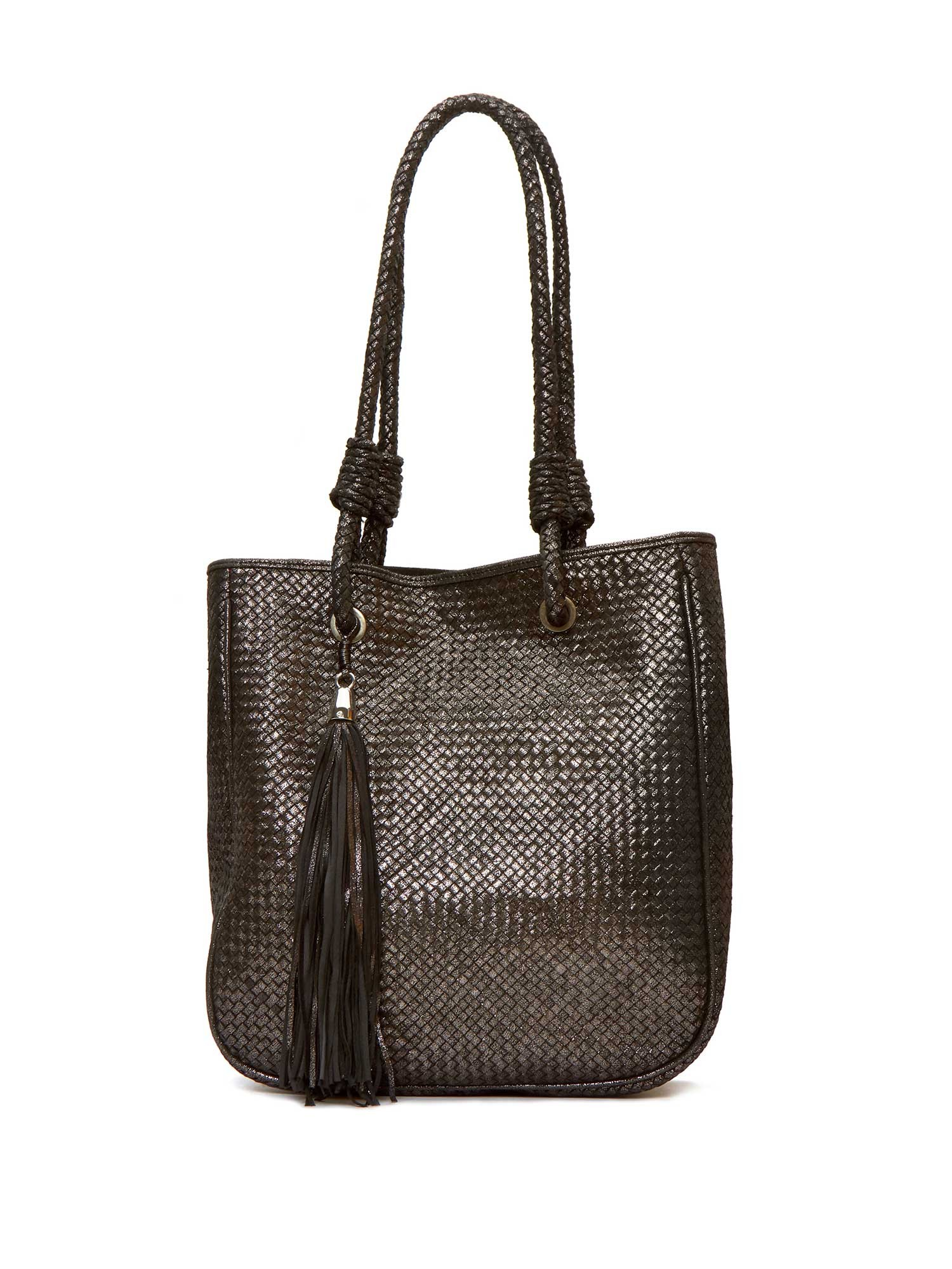 CARUSSO BRAIDED ANTHRACITE BAG