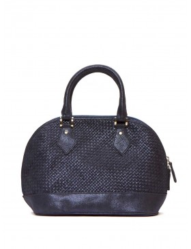 CARUSSO NAVY BRAIDED BAG