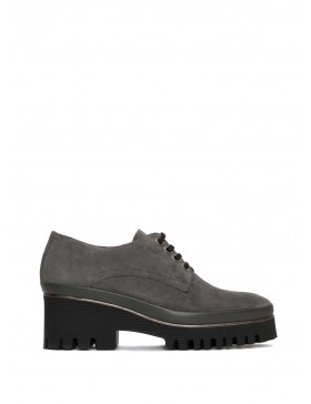 CARMEN VELOUR ANTHRACITE SHOES