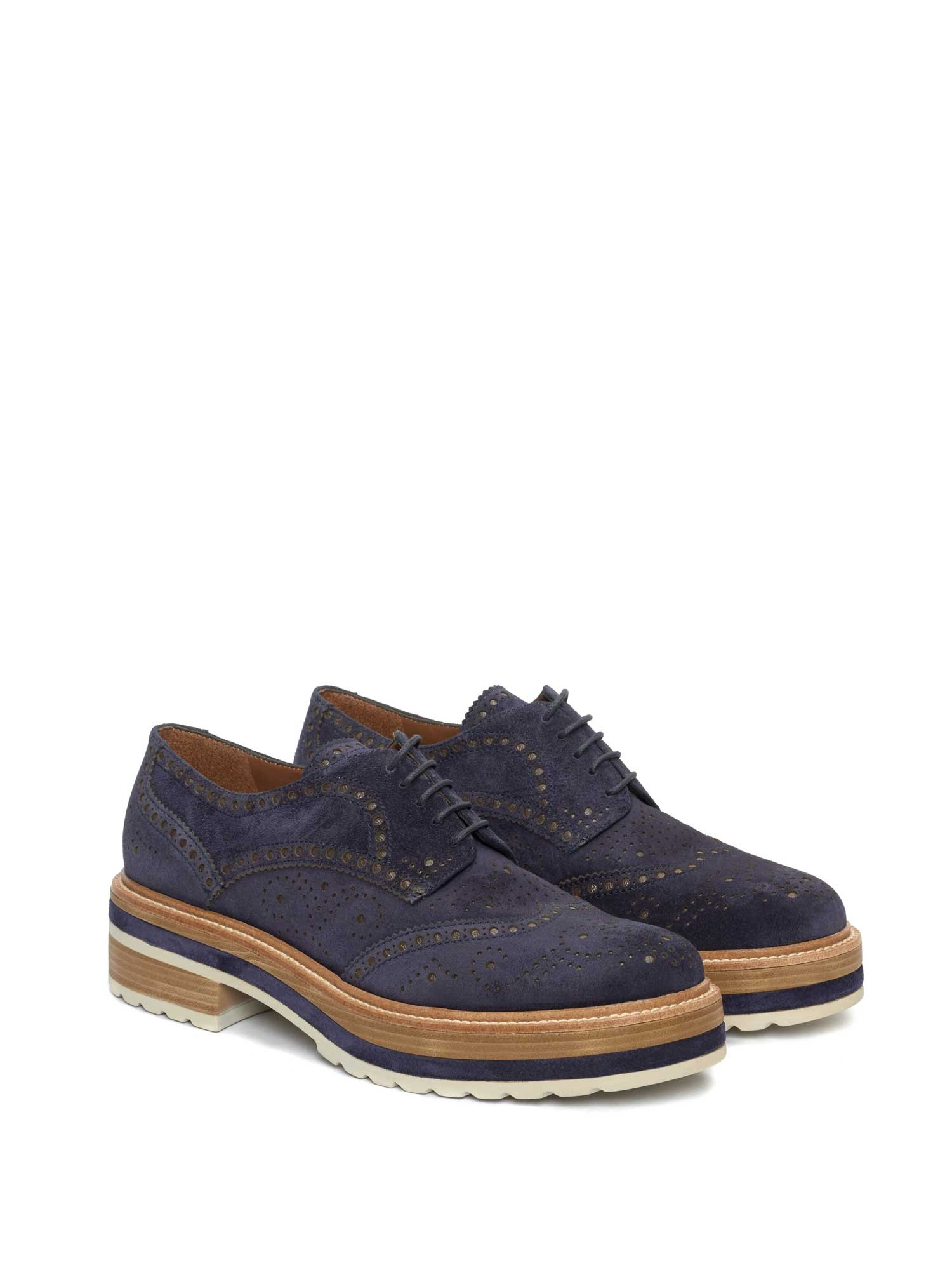 ANDREA VELOUR NAVY SHOES