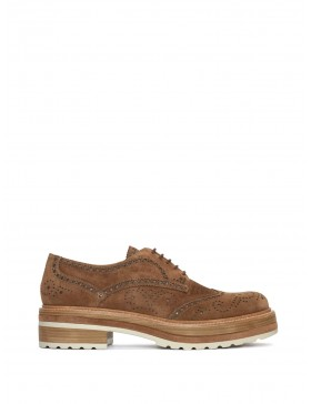 ANDREA TOFFE VELOUR BLUCHER