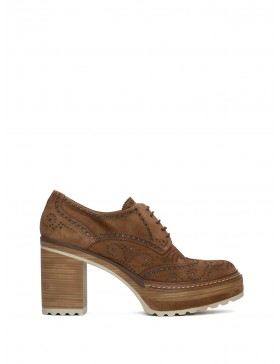 OLIVIA TOFFE VELOUR HEELED SHOES