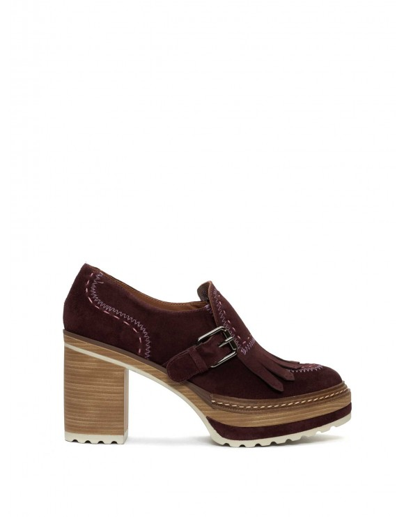 OLIVIA VELOUR PRUGNA SHOES