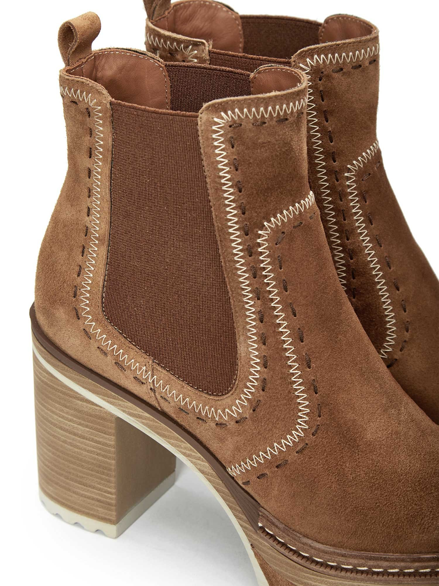 OLIVIA VELOUR TOFFE ANKLE BOOT
