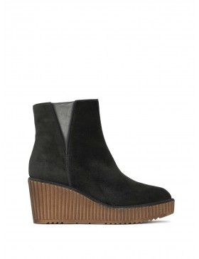 CLAUDI VELOUR BLACK ANKLE BOOT