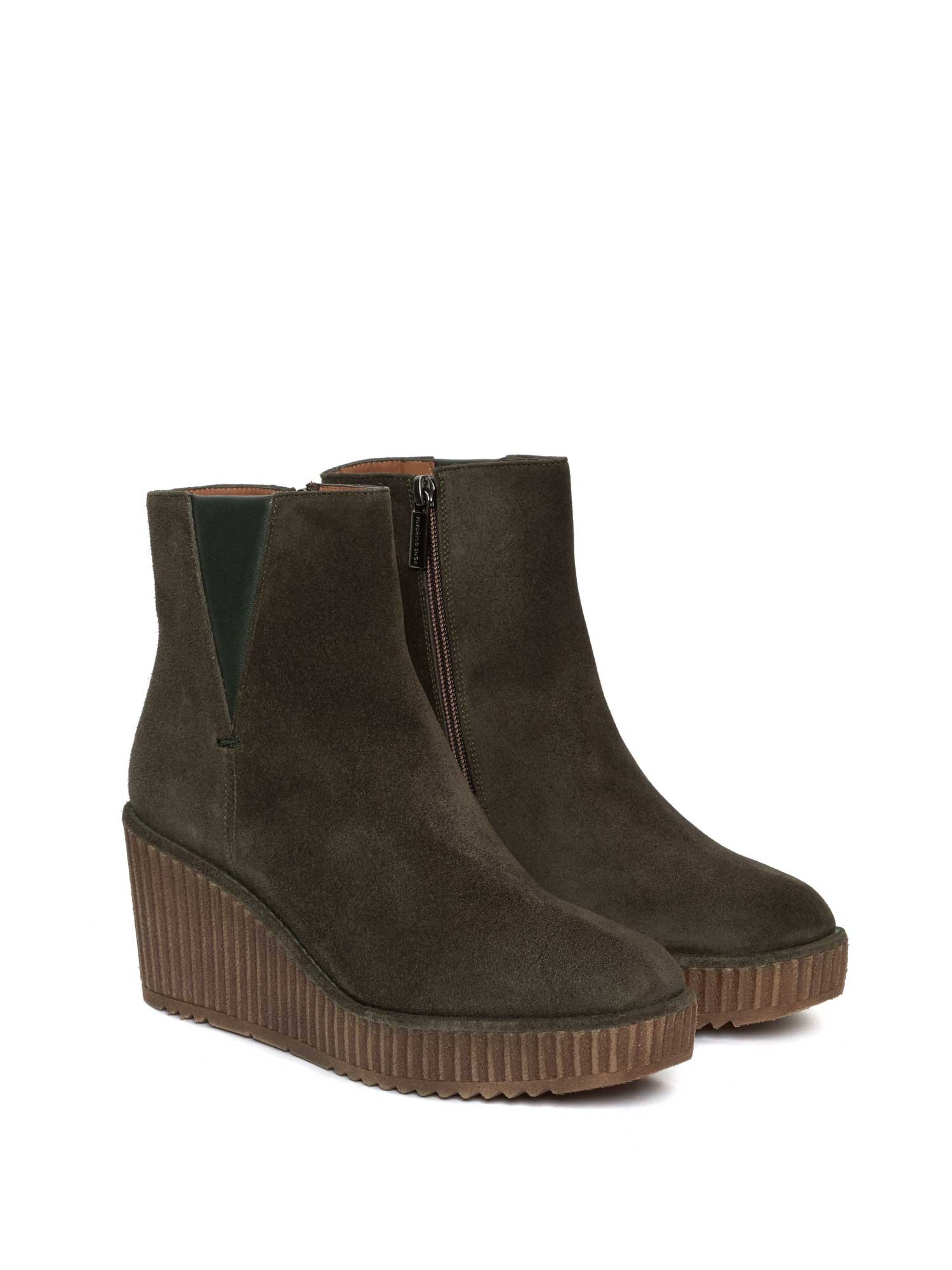 CLAUDI VELOUR MUSGO ANKLE BOOT