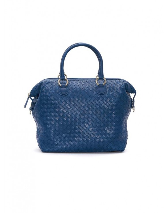 ELECTRIC BRAIDED NAPPA LEATHER HANDBAG