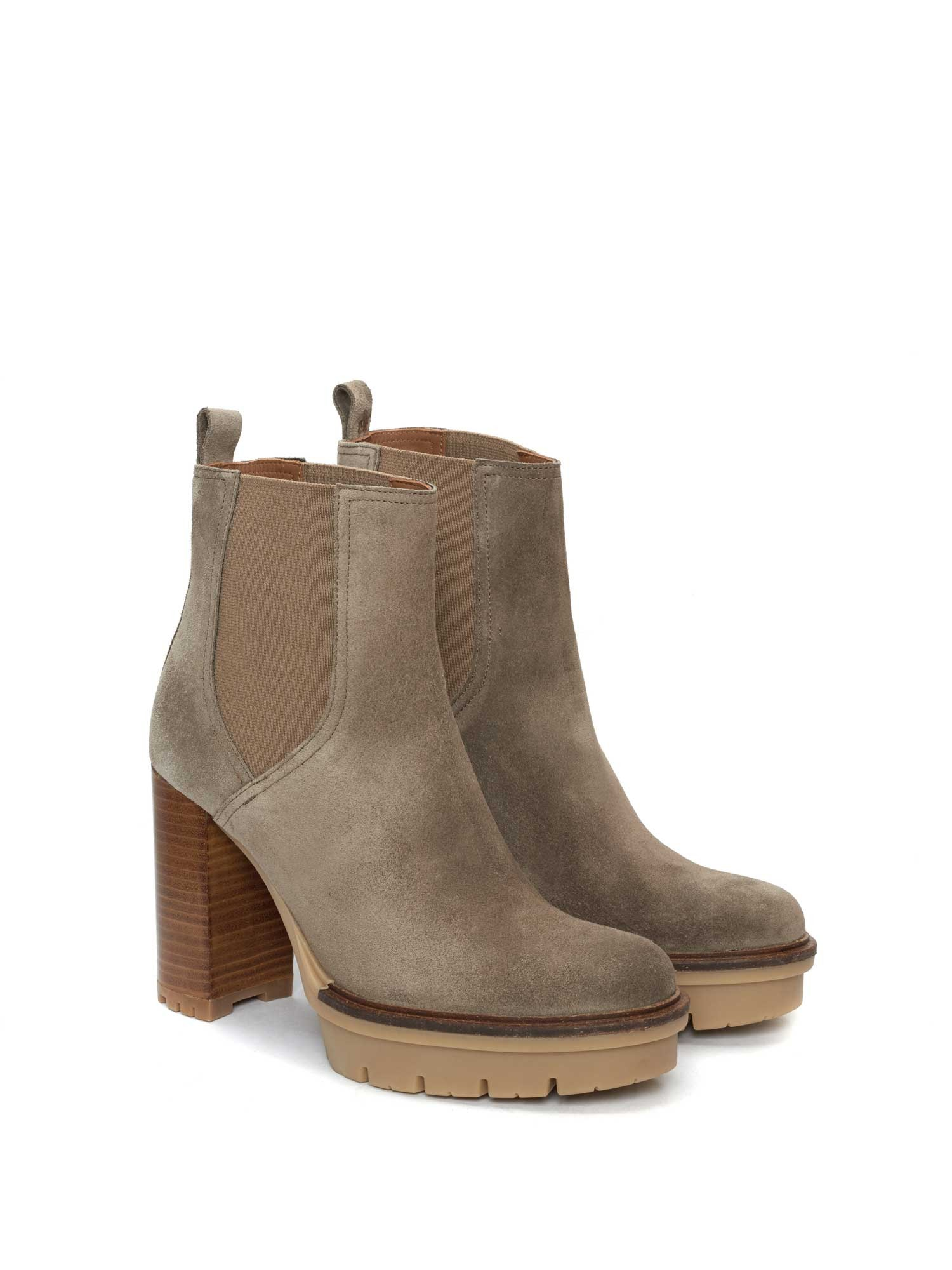 TERE VELOUR GREY ANKLE BOOT