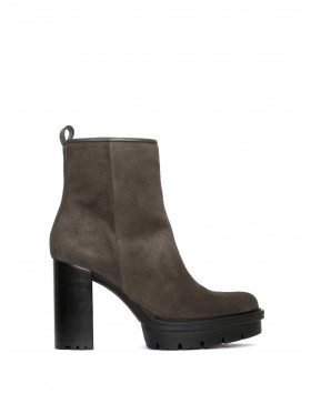 TERE VELOUR ANTHRACITE ANKLE BOOT