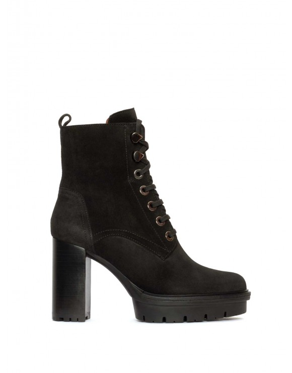 TERE VELOUR BLACK ANKLE BOOT
