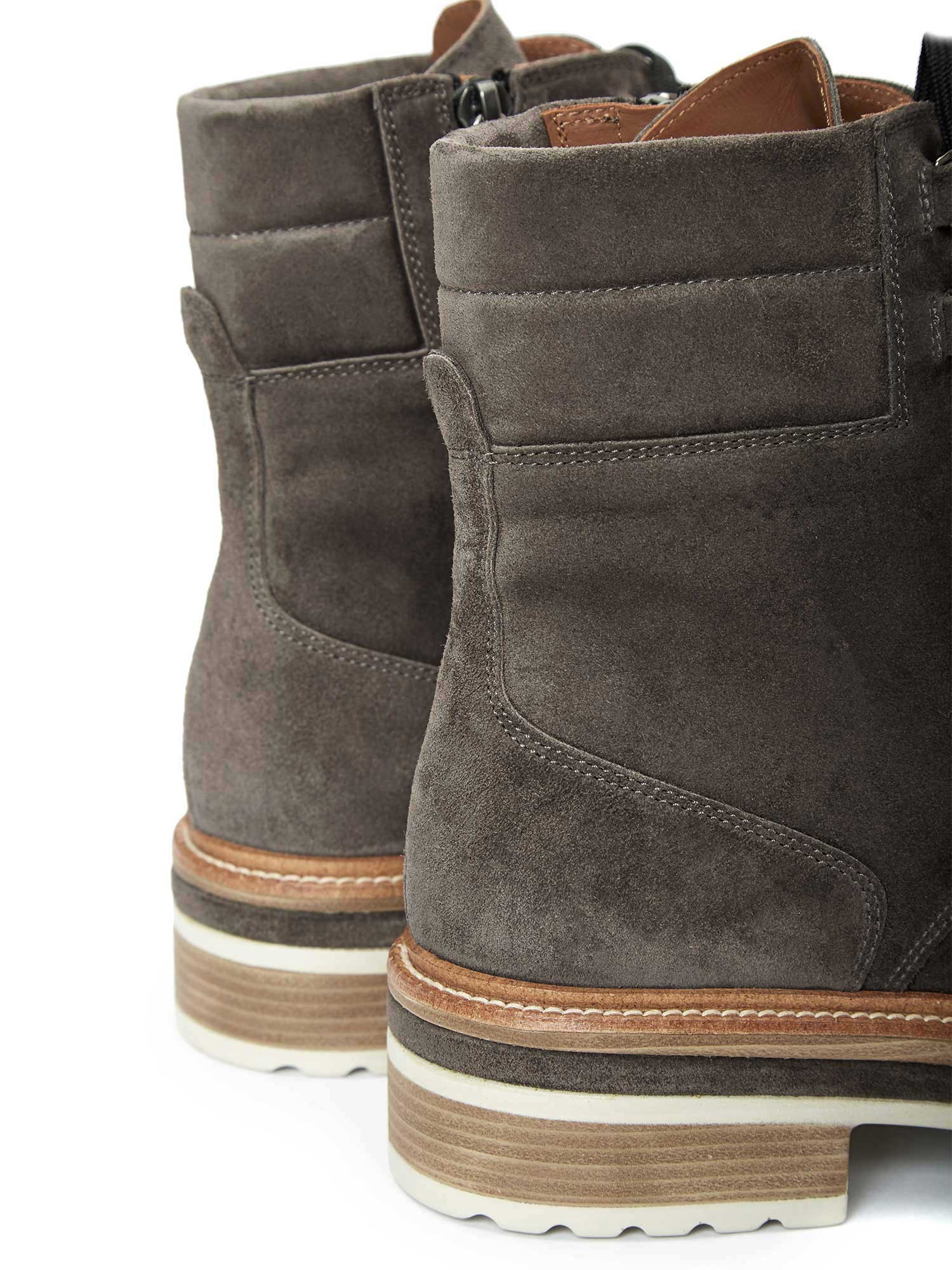ANDREA ANTHRACITE VELOUR ANKLE BOOTS