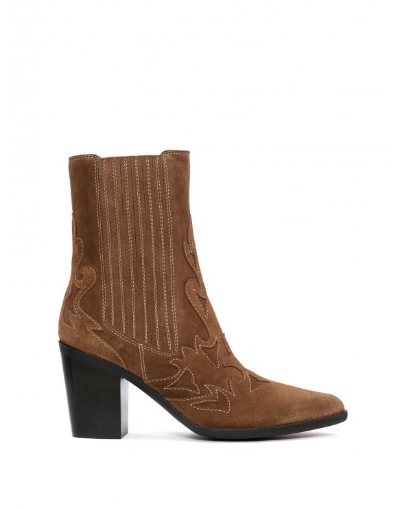 VIOLA TOFFE VELOUR HEELED BOOTS