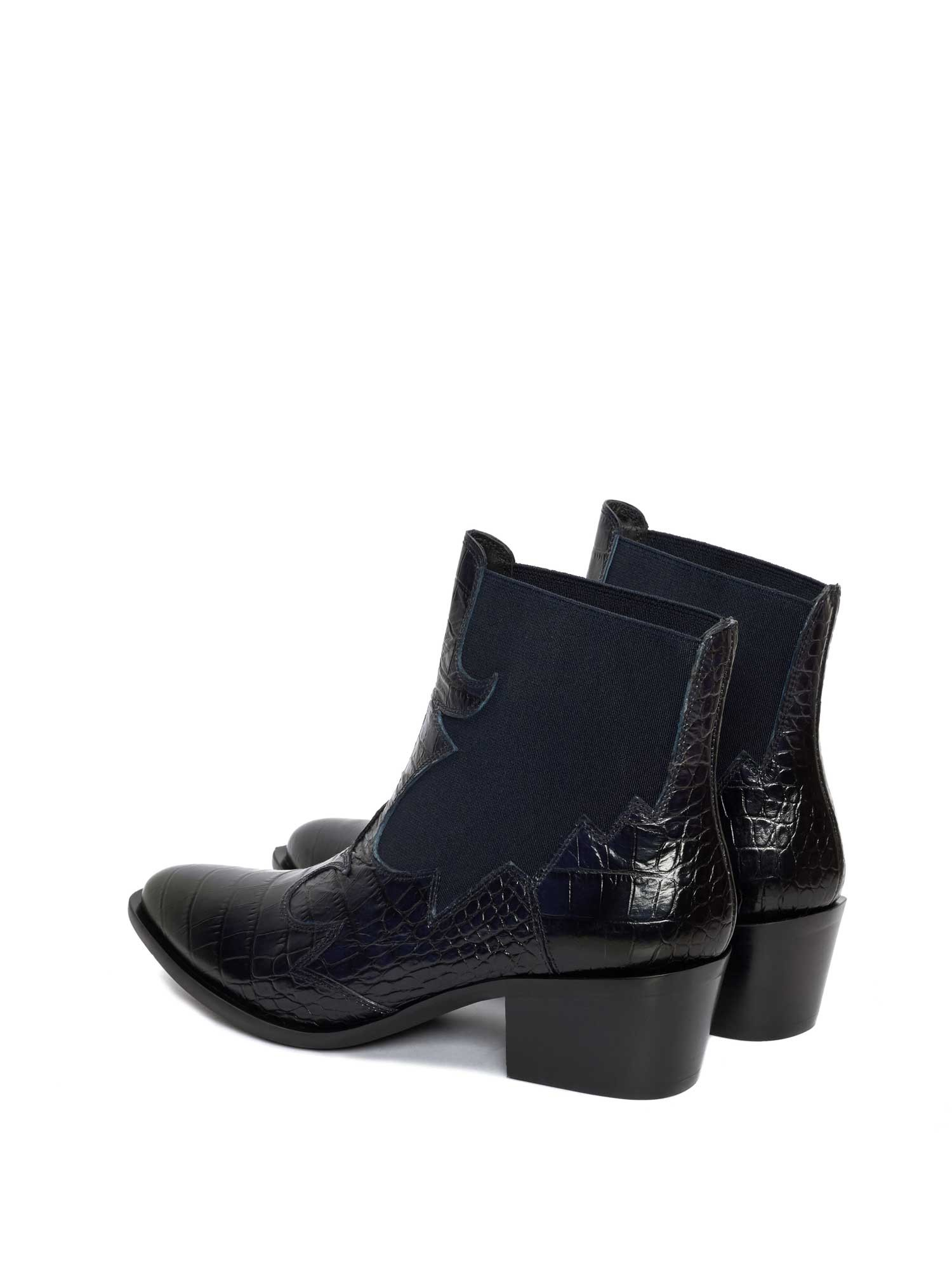 ROSANA COCCO NAVY ANKLE BOOT