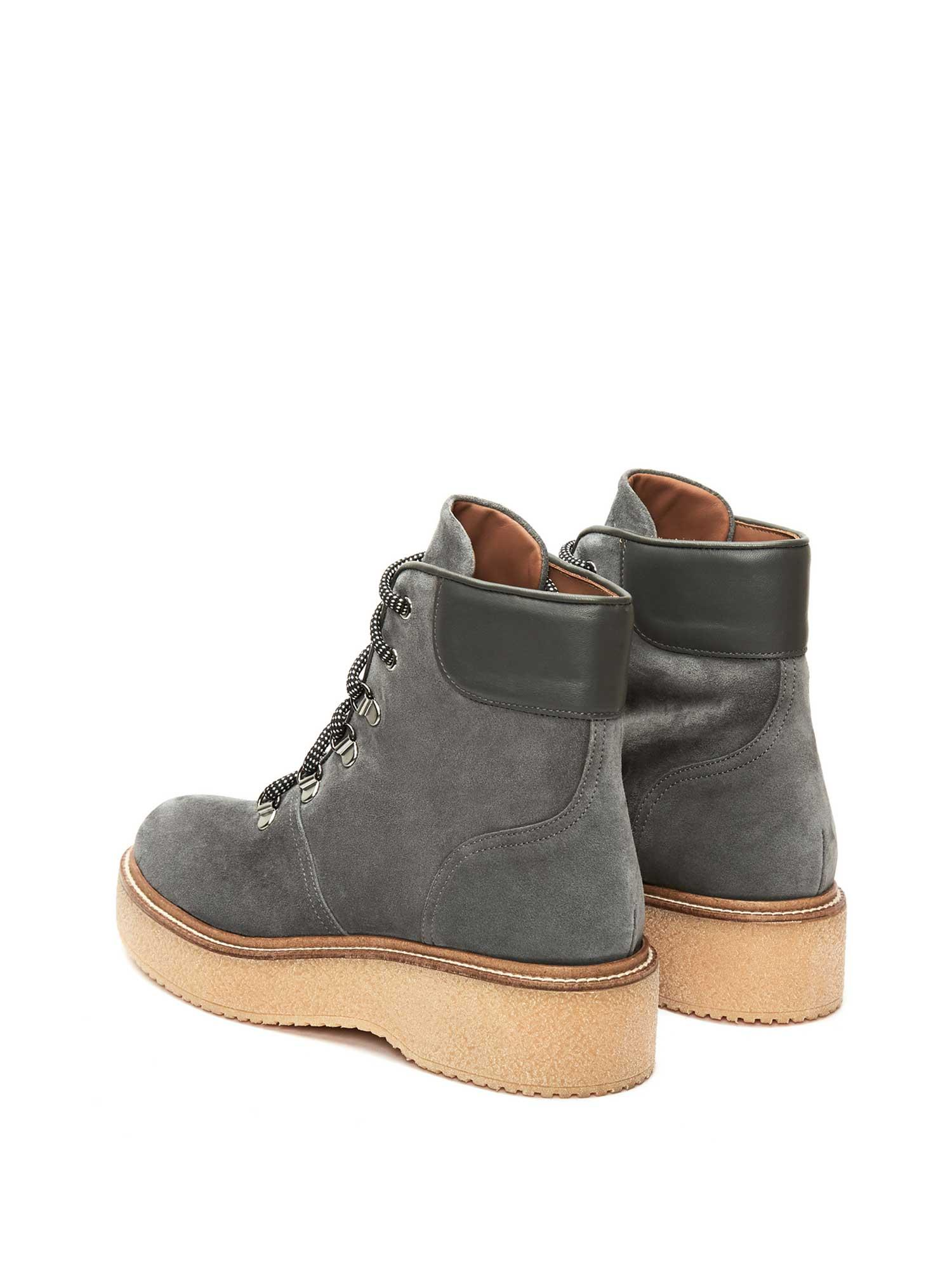 KIMBA ANTHRACITE VELOUR ANKLE BOOT