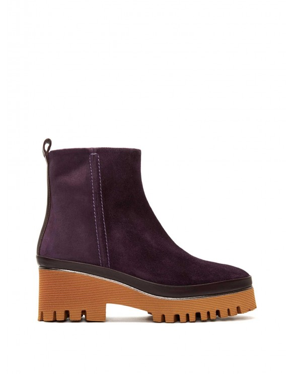 CARMEN VELOUR VIOLA ANKLE BOOT