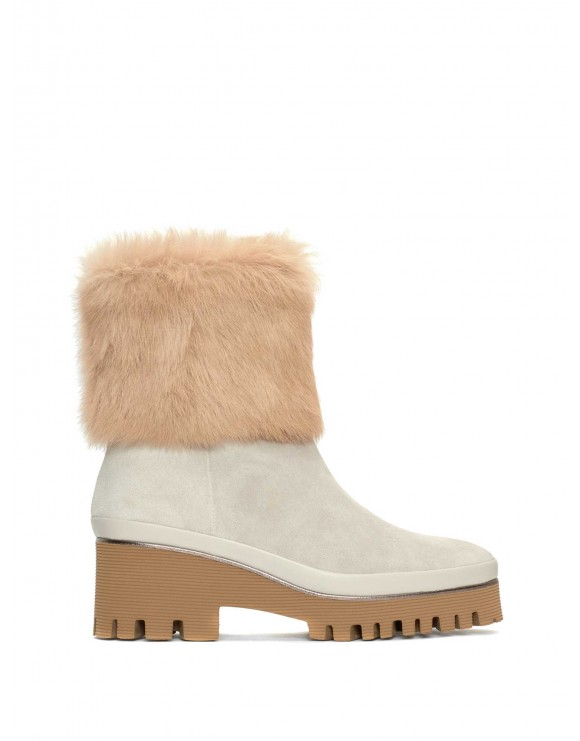 CARMEN VELOUR ICE ANKLE BOOT