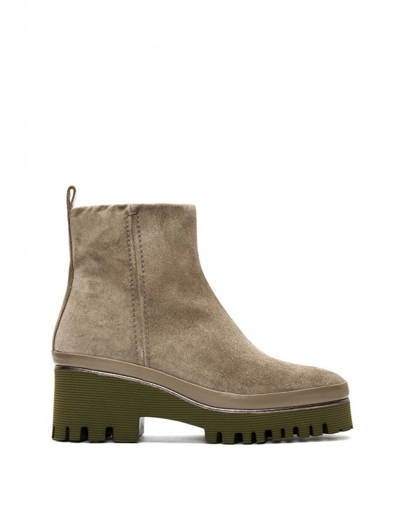 CARMEN VELOUR LODEN ANKLE BOOT