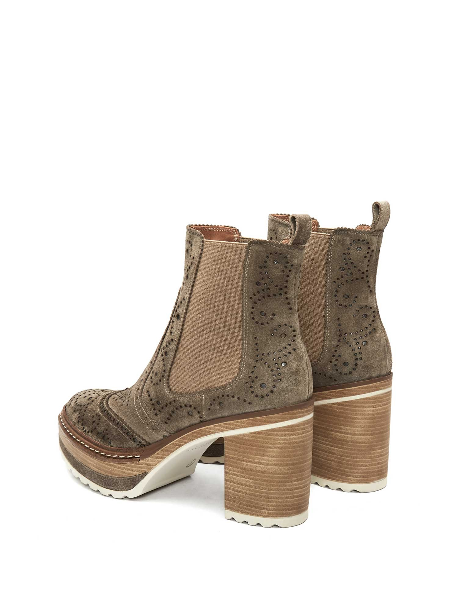 OLIVIA VELOUR LODEN ANKLE BOOT