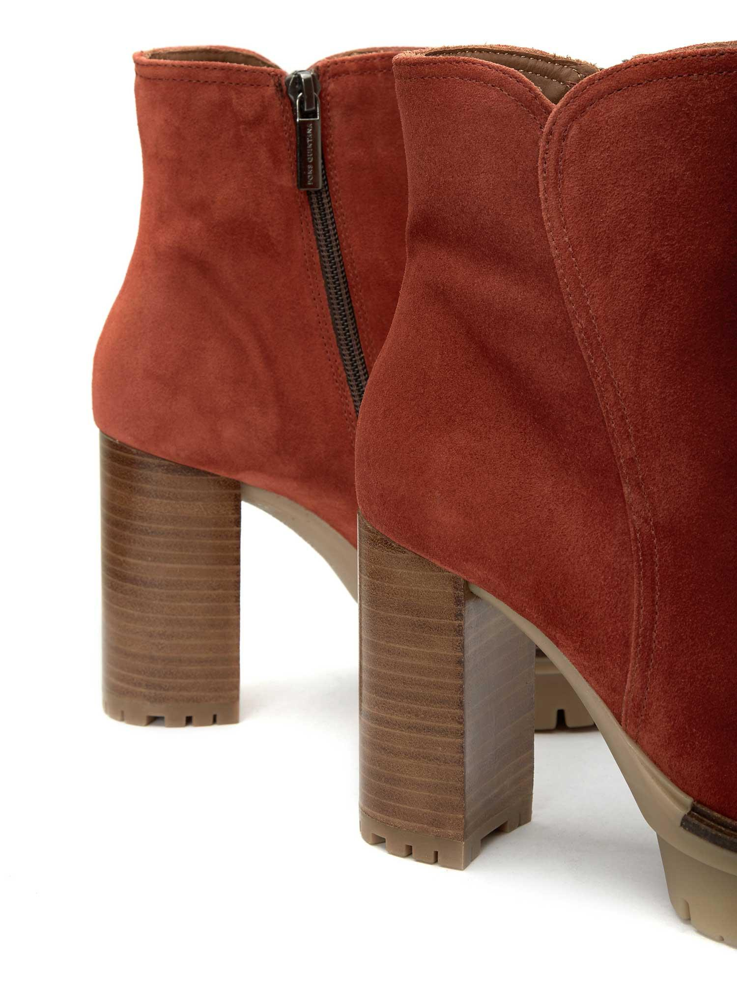 TERE COGNAC VELOUR ANKLE BOOT
