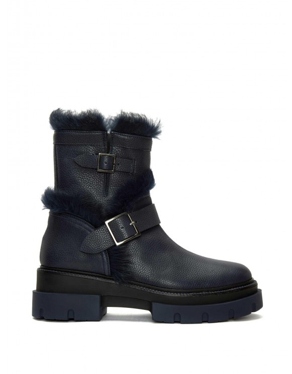 DEBORA NAVY ELK ANKLE BOOT