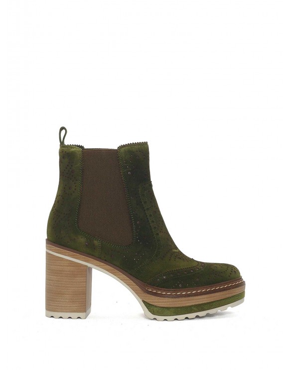 FOREST VELOUR ANKLE BOOT