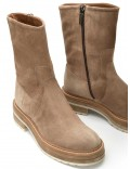 ANDREA SAND VELOUR ANKLE BOOT