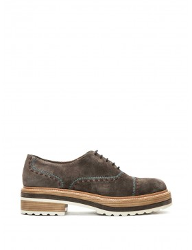 ANDREA ANTHRACITE VELOUR BLUCHER