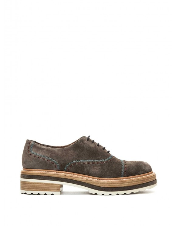 BLUCHER ANDREA VELOUR ANTRACITA
