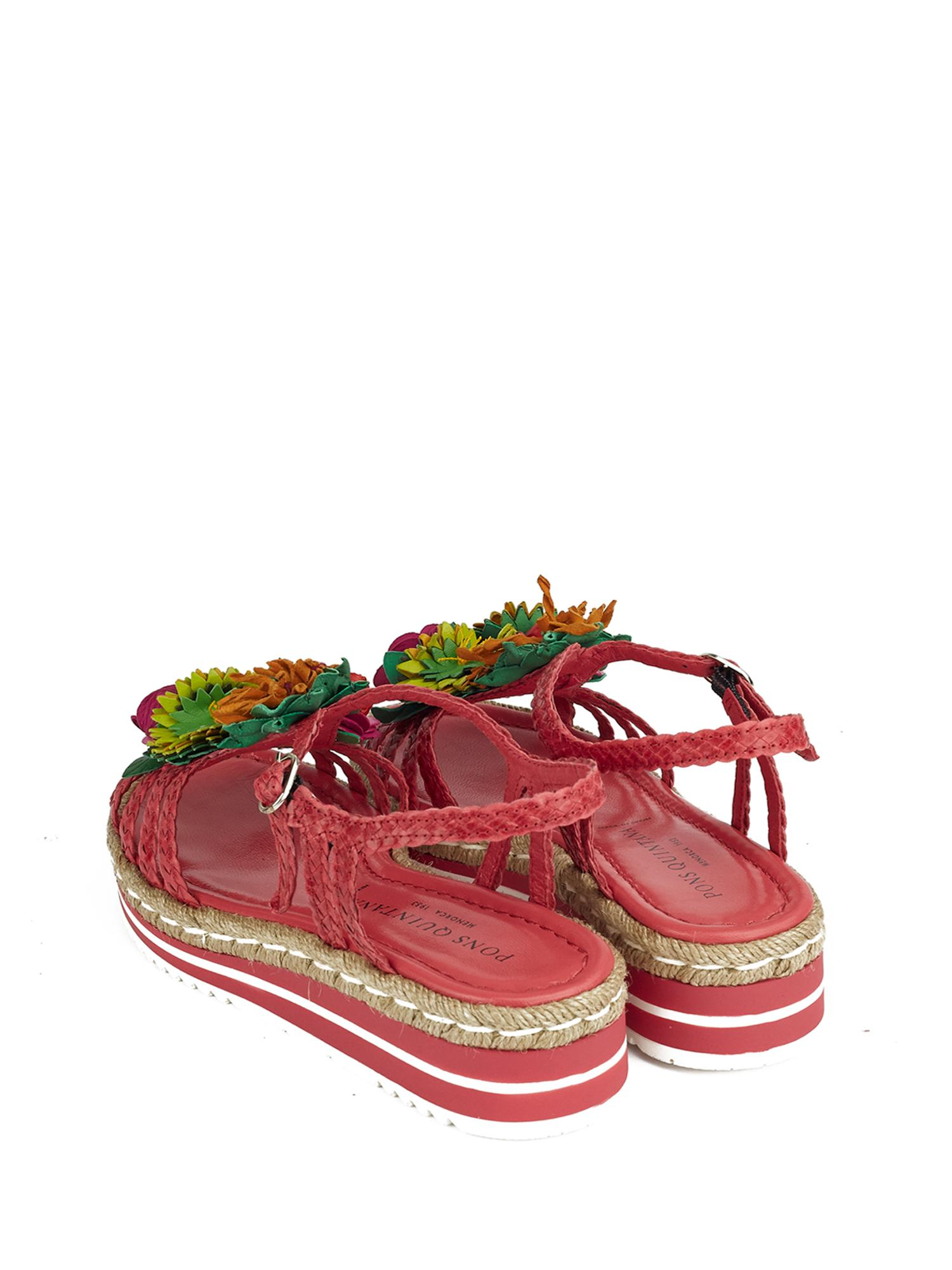 MILAN STRAWBERRY PLATFORM SANDAL