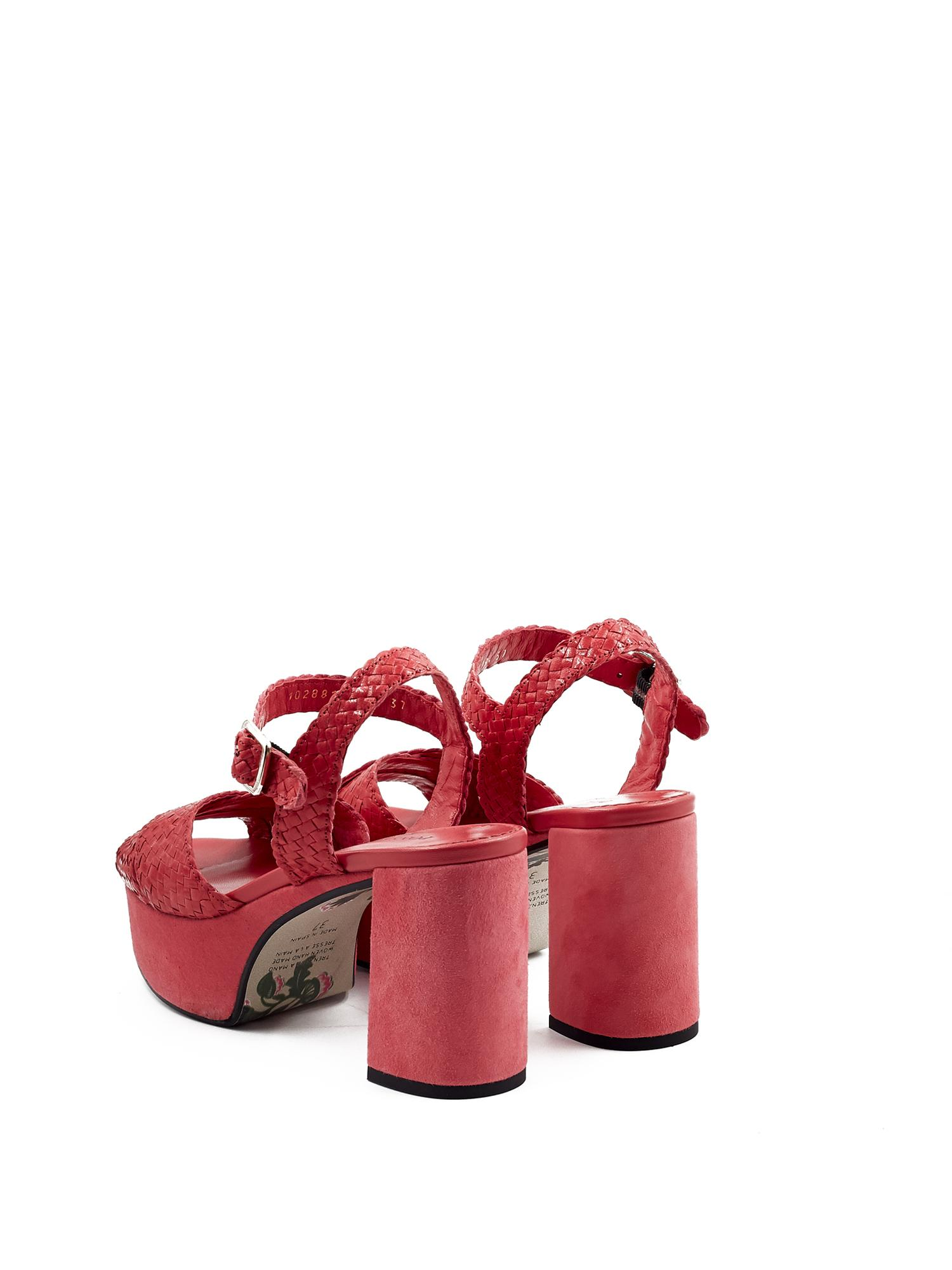 LIDIA STRAWBERRY HEEL SANDAL
