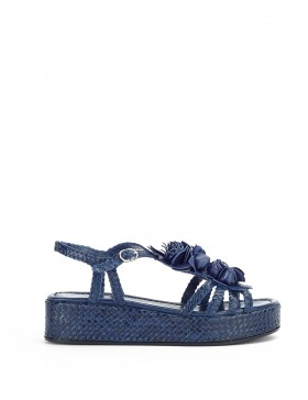 FORLI NAVY WEDGE SANDAL
