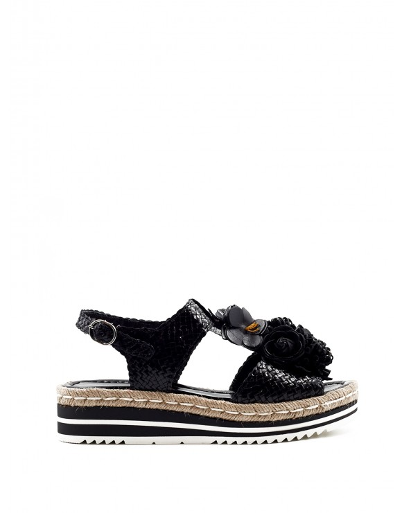 MILAN BLACK WEDGE SANDAL