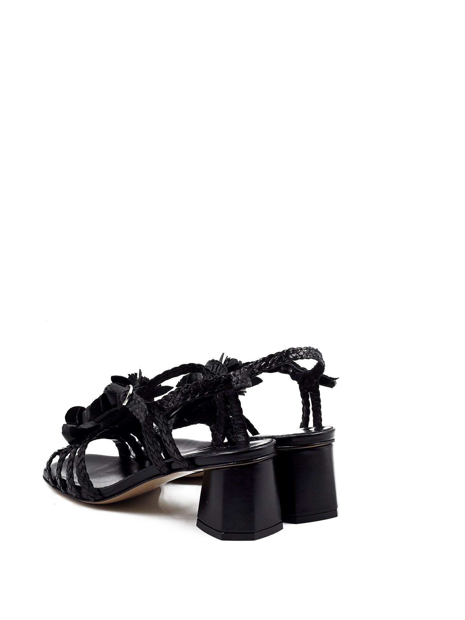 BAYONA BLACK HEELED SANDAL