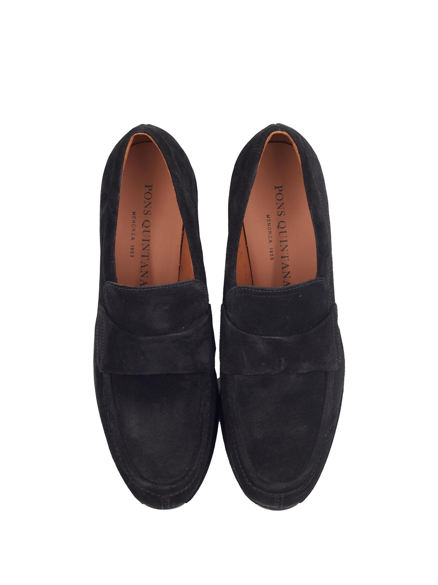 CARTIER BLACK VELOUR SLIP ON