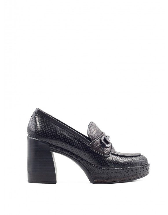AMELIA BLACK-FONDANT WHIPS HEELED SHOES