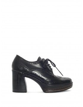 AMELIA BLACK NEPAL HEELED SHOE