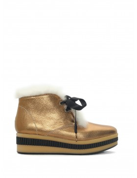 CARTIER GOLD VETREX ANKLE BOOT