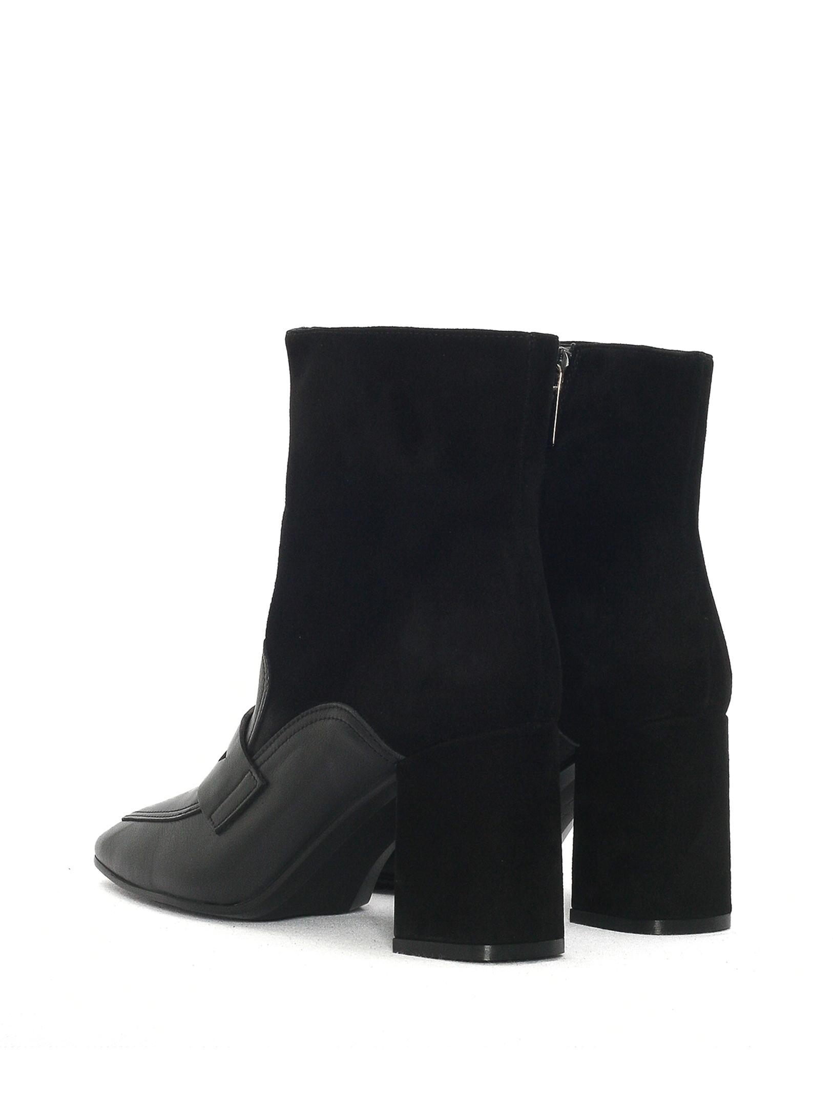 VIANNA BLACK NAPA-SUEDE ANKLE BOOT