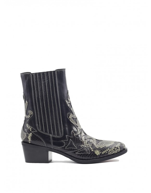 ROSANA BLACK-FOREST PYTON COWBOY BOOT