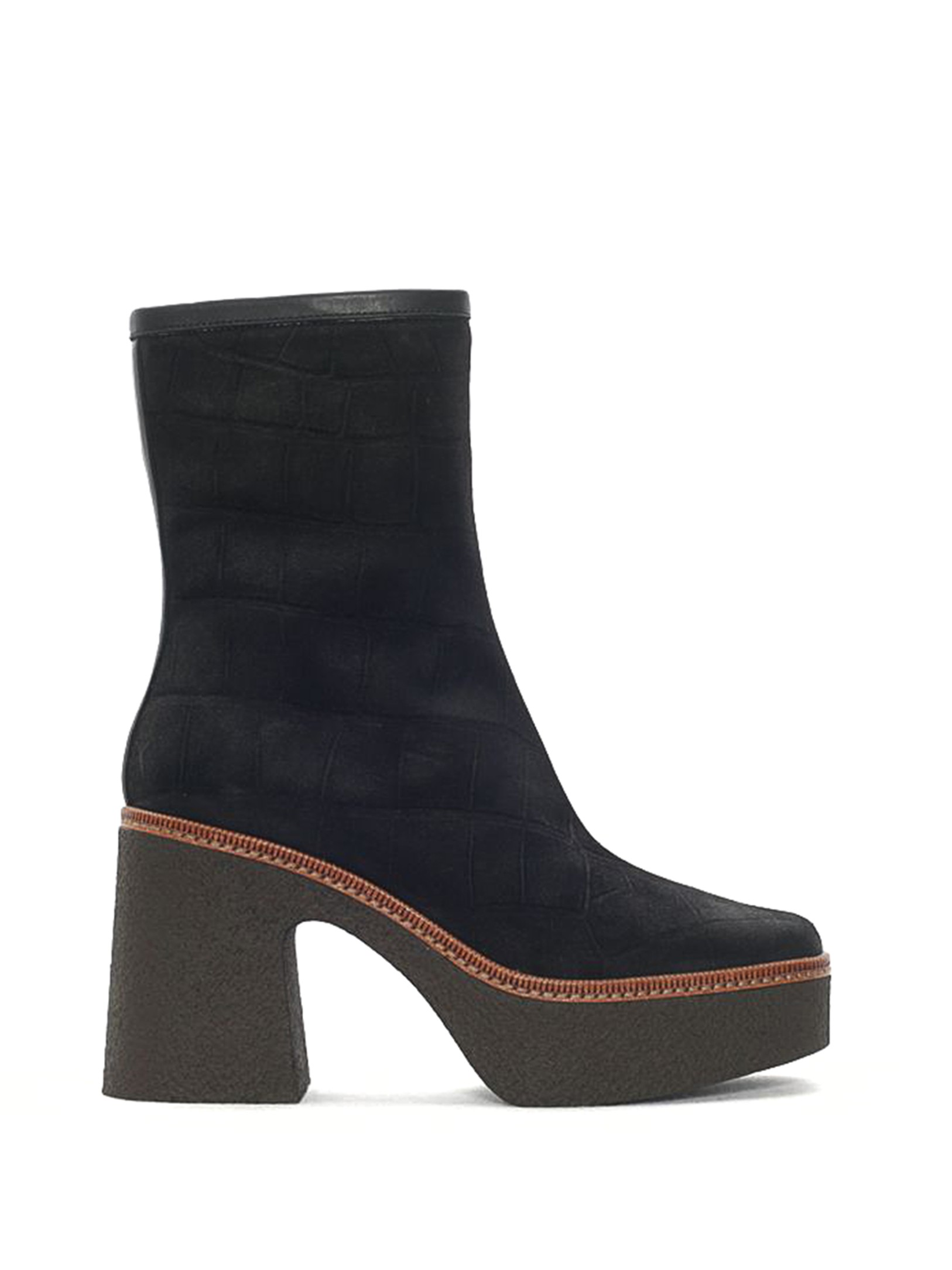 CARLA BLACK MAXI ANKLE BOOT